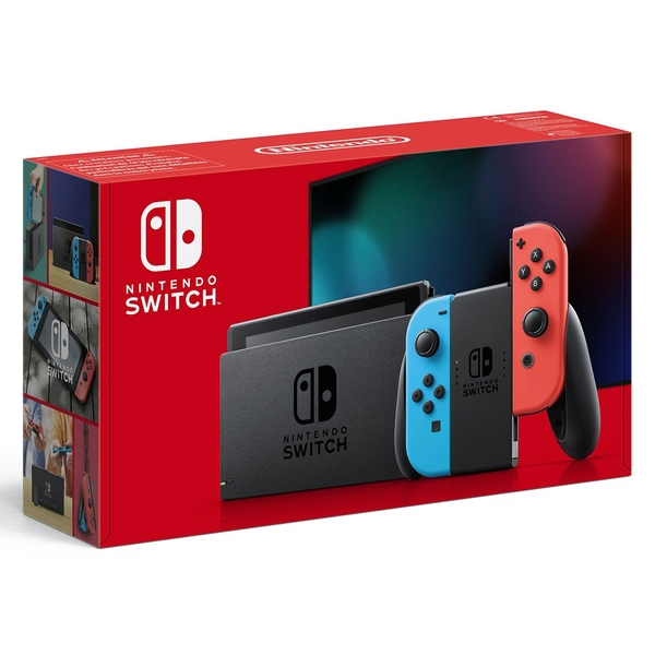 Nintendo Switch Neon Red/Blue (Improved Battery)