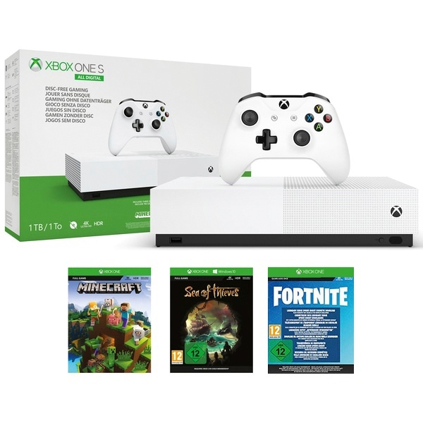 Xbox One S 1TB All Digital Fortnite Edition
