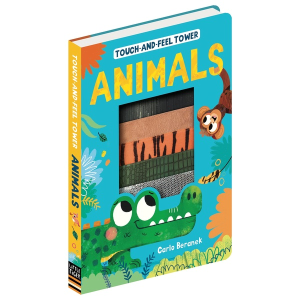 Touch-and-Feel Tower Animals Book
