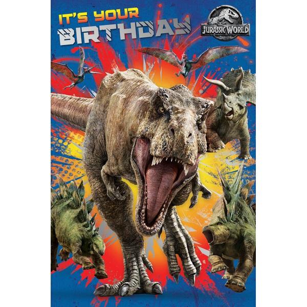 Jurassic World Birthday Card No Age