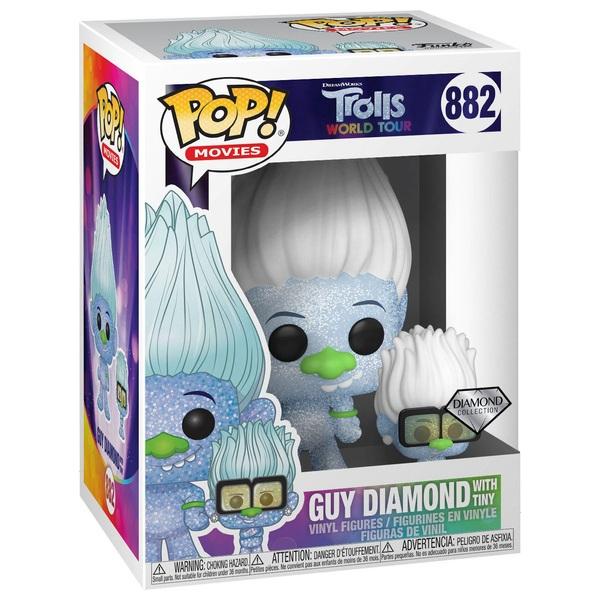 POP! Vinyl: Trolls World Tour- Hip Hop Guy Diamond with Tiny (GL)
