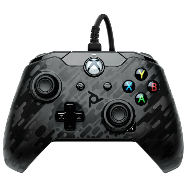 PDP Gaming Black Camo Wired Controller for Xbox One