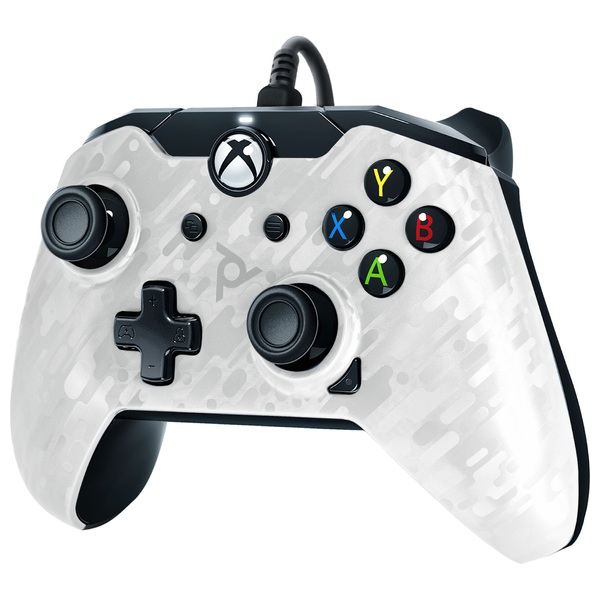 PDP Gaming White Camo Wired Controller for Xbox One
