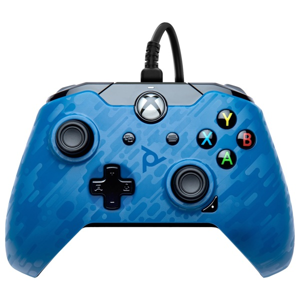 PDP Gaming Blue Camo Wired Controller for Xbox One