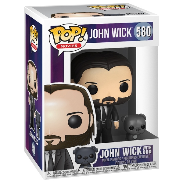 POP! Vinyl: John Wick- John (Black Suit) with Dog (Buddy)