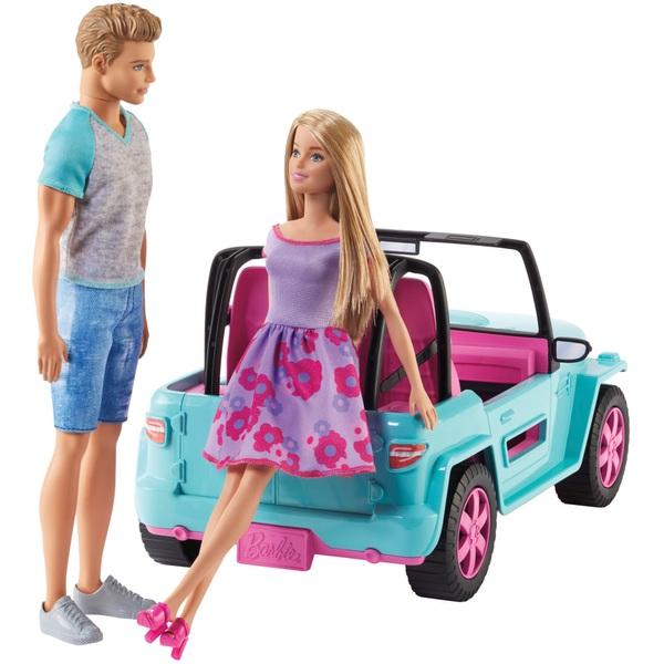Barbie Jeep With 2 Dolls Smyths Toys Uk