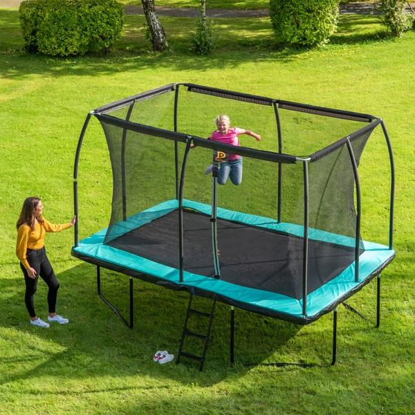 Jump Power 12 x 8ft Rectangular Trampoline & Enclosure