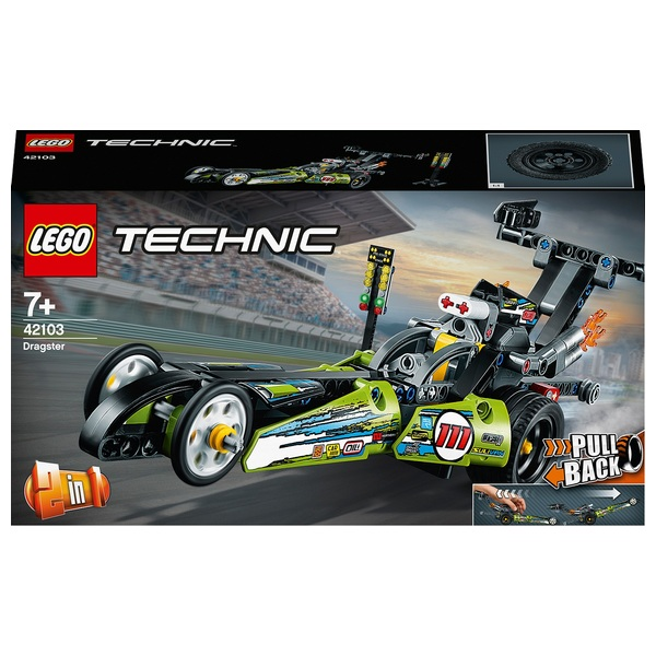 LEGO 42103 Technic Pull Back Dragster Car to Hot Rod 2in1 Set
