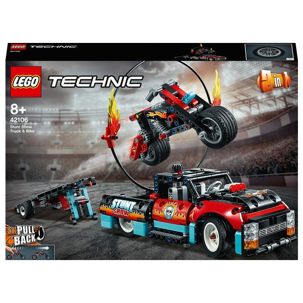 LEGO 42106 Technic Pull Back Stunt Show Truck & Bike 2in1 Set