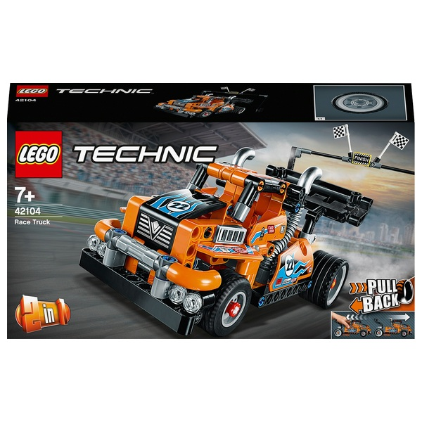 LEGO 42104 Technic Pull Back Race Truck - Racing Car 2in1 Set
