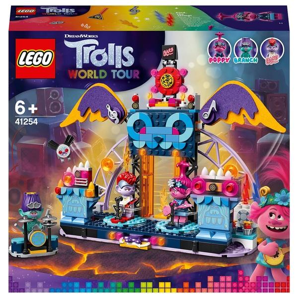 Lego 41254 Trolls World Tour Volcano Rock City Concert Smyths