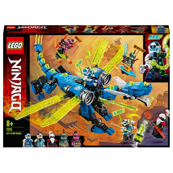 LEGO 71711 NINJAGO Jay's Cyber Dragon Mech Toy Action Figure