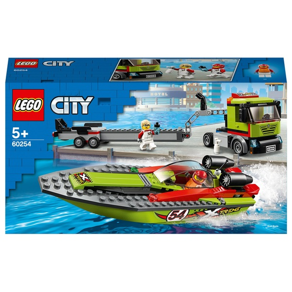 LEGO 60254 City Great Vehicles Race Boat Transporter