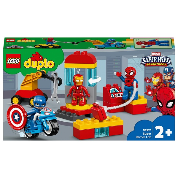 LEGO 10921 DUPLO Marvel Super Heroes Lab Toy with Spiderman