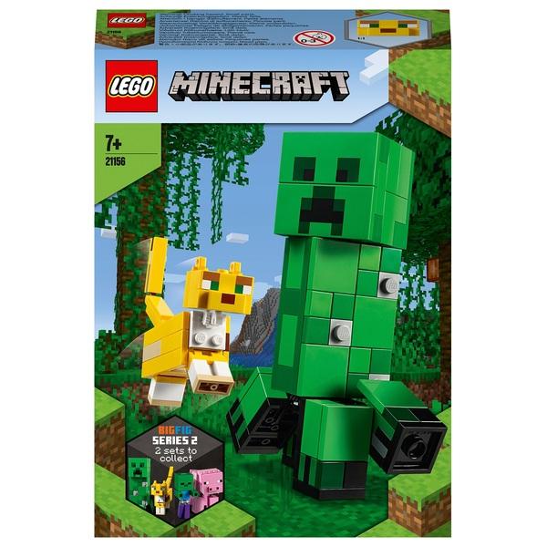 LEGO 21156 Minecraft BigFig Creeper and Ocelot Figures Set