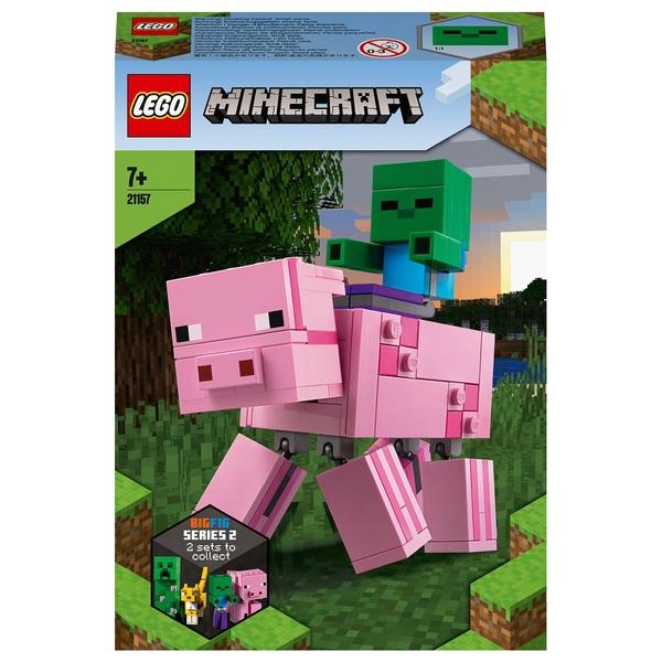 LEGO 21157 Minecraft BigFig Pig with Baby Zombie Figures Set