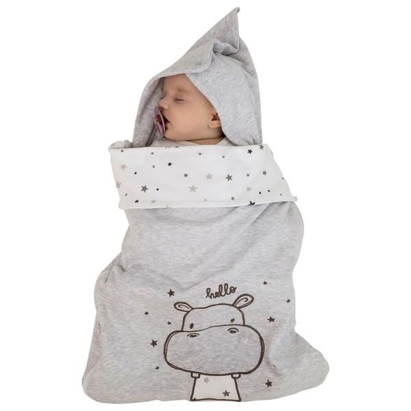 Jacky Baby Fußsack Hippo