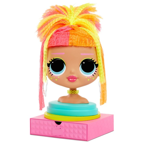 L.O.L. Surprise! O.M.G. Styling Head Neonlicious - Smyths Toys
