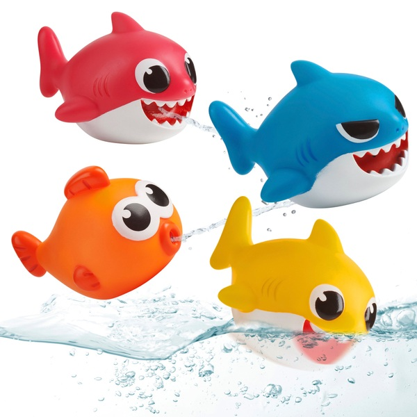Baby Shark 4 Pack Bath Squirt Toys