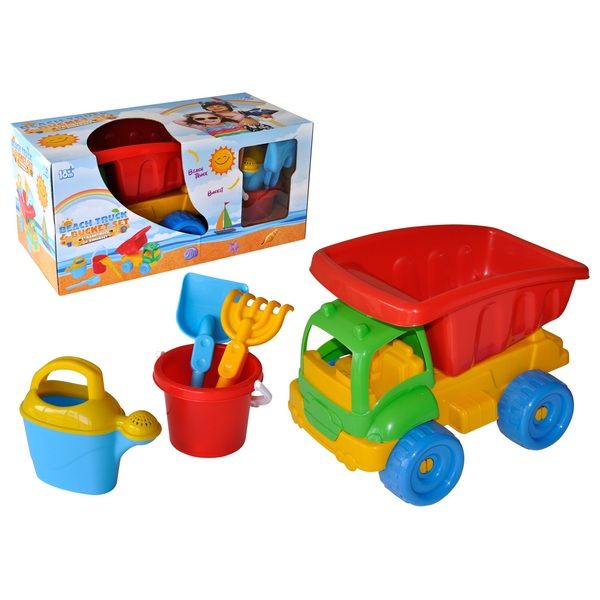 Playskape Big Beach Truck with Sand Play Accessories