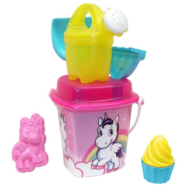 Unicorn Heart Shaped Bucket Set