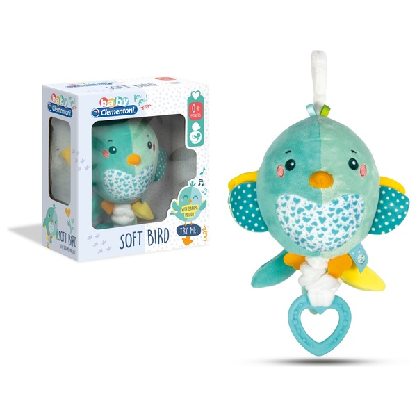 Baby Clementoni Soft Bird Musical Plush