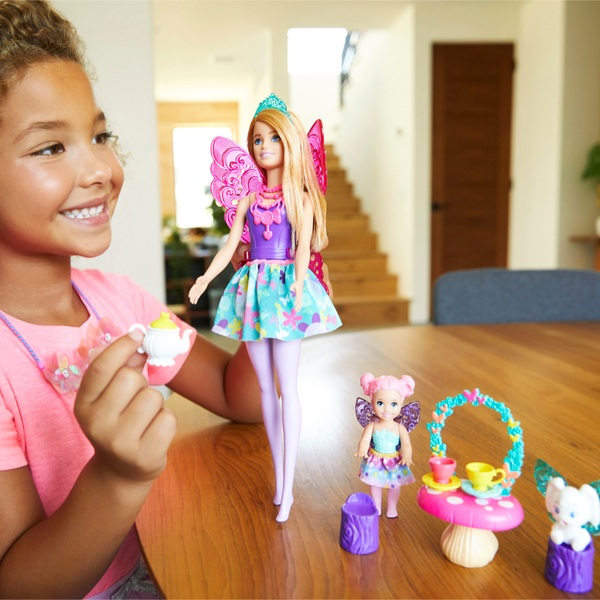 Barbie Dreamtopia Fairytale Dolls and Accessories Tea Party Playset