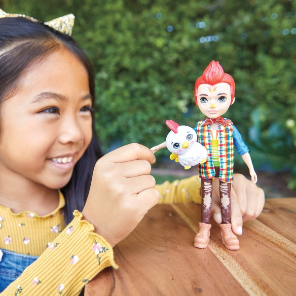 Enchantimals Redward Rooster Doll and Cluck Figure Doll Set