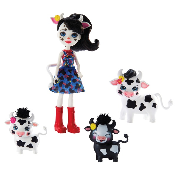 Enchantimals Cambrie Cow Doll with Ricotta Family Playset