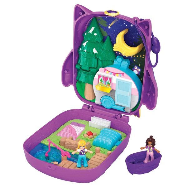 Polly Pocket Owl-Nite Campsite Compact Playset