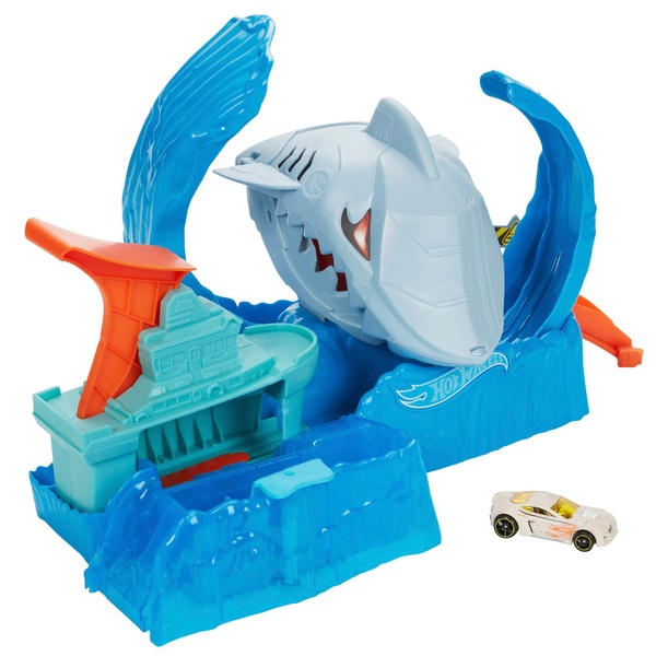 Hot Wheels Robo Shark Frenzy Play Set