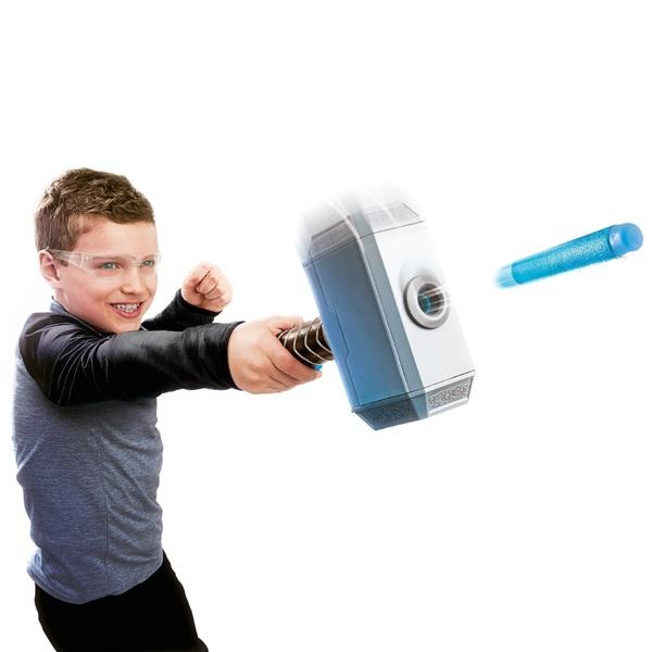 Marvel Avengers Thor Hammer NERF Power Moves Dart Launcher