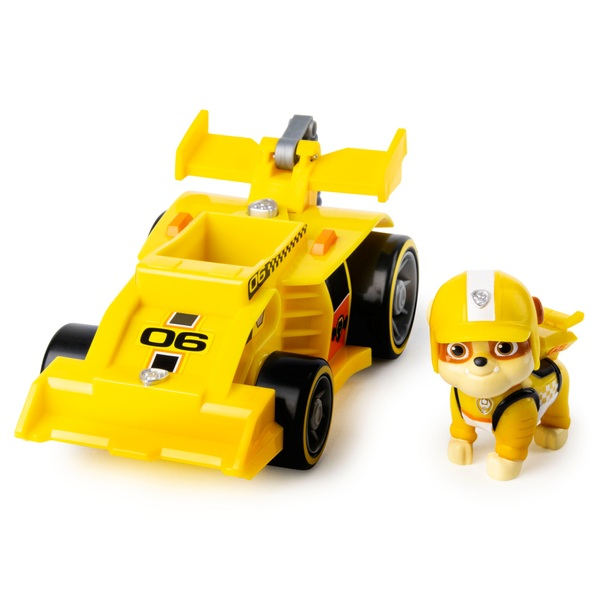 PAW Patrol Ready Race Rescue Rubble's Race and Go Deluxe Vehicle