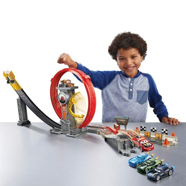 Disney Pixar Cars XRS Rocket Racing Super Loop Playset