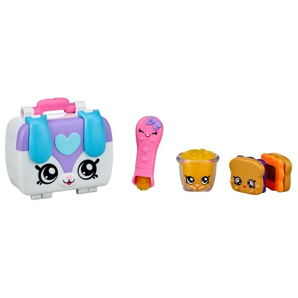 Kindi Kids Puppy Petkin Lunch Box and 3 Shopkins