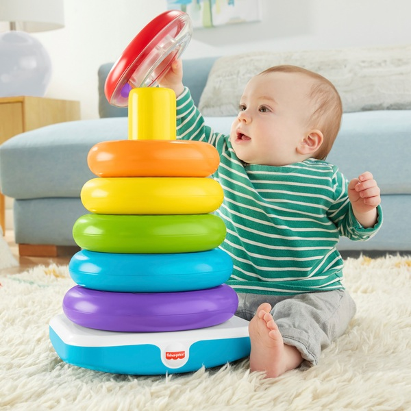 Fisher-Price Giant Rock-a-Stack Toy For Toddlers