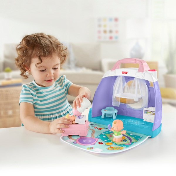 Fisher-Price Little People Babies Cuddle & Play Nursery Playset