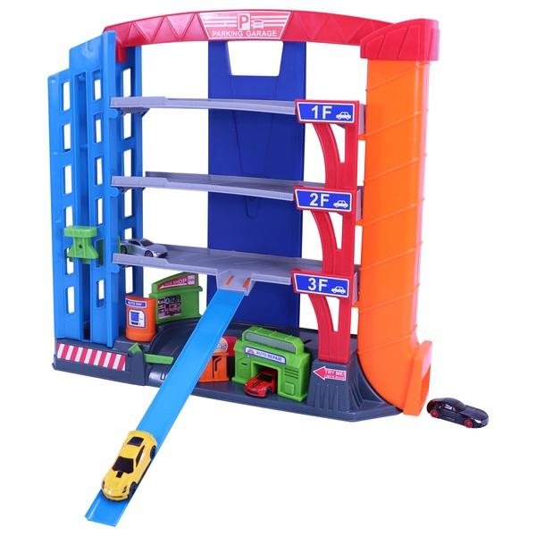 3 Y Parking Garage With 4 Cast, Parking Garage Toys