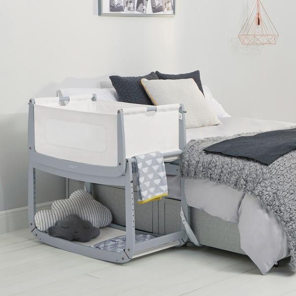 SnuzPod 3 Bedside Crib - Dove Grey