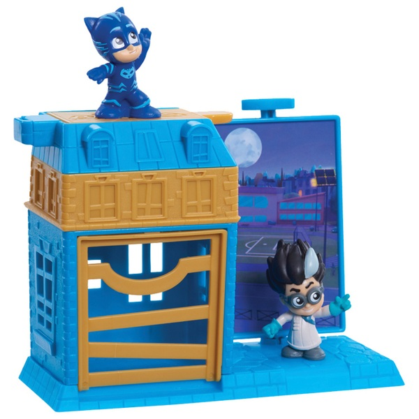 PJ Masks Nighttime Micros  Trap and Escape Catboy and Romeo