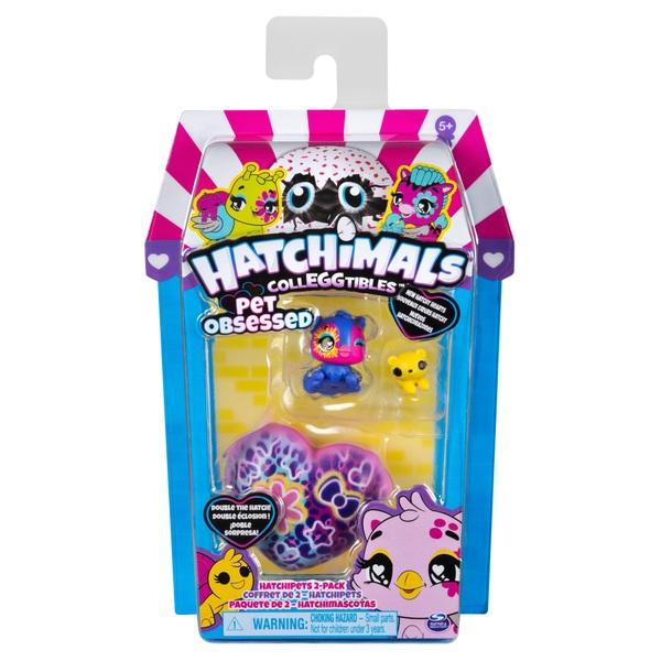 Hatchimals CollEGGtibles, Pet Obsessed HatchiPets 2-Pack
