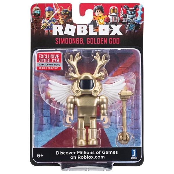 ROBLOX Simoon 68 Golden God 5cm Figure Smyths Toys