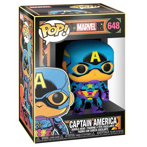 POP! Vinyl: Marvel Blacklight Captain America Figure
