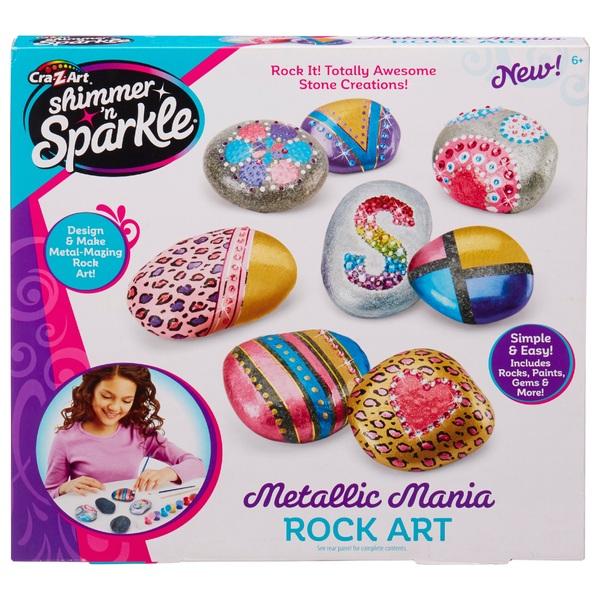 Cra-Z-Art Shimmer n Sparkle Metallic Mania Rock Art