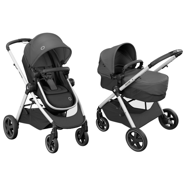 Maxi Cosi Zelia Essential Black Travel System