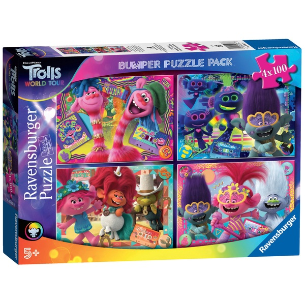 Ravensburger DreamWorks Trolls World Tour Jigsaw Puzzle Bumper Pack 4 Pack