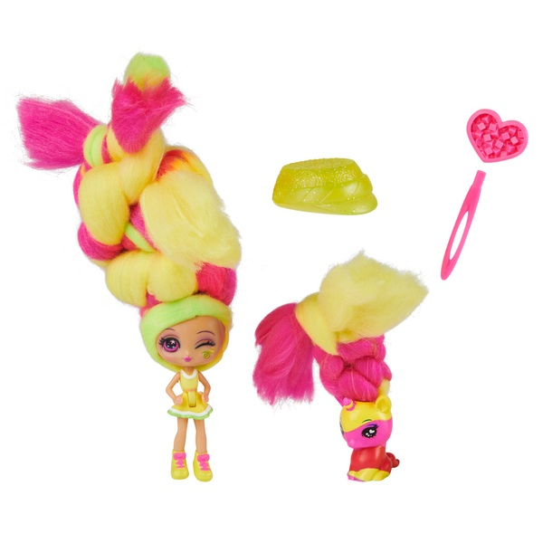 Candylocks Lemon Lou Twist 7.5cm Scented Collectible Doll and Pet