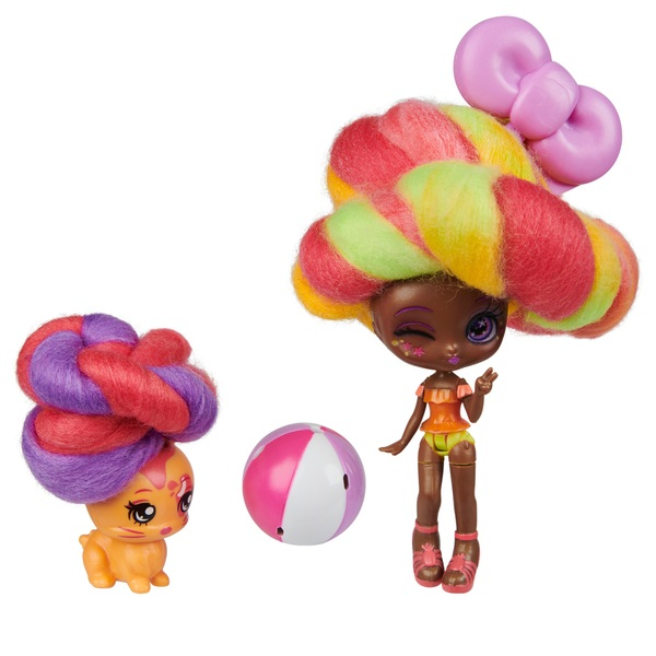 Candylocks Margo Punch 7.5cm Scented Collectible Doll and Pet