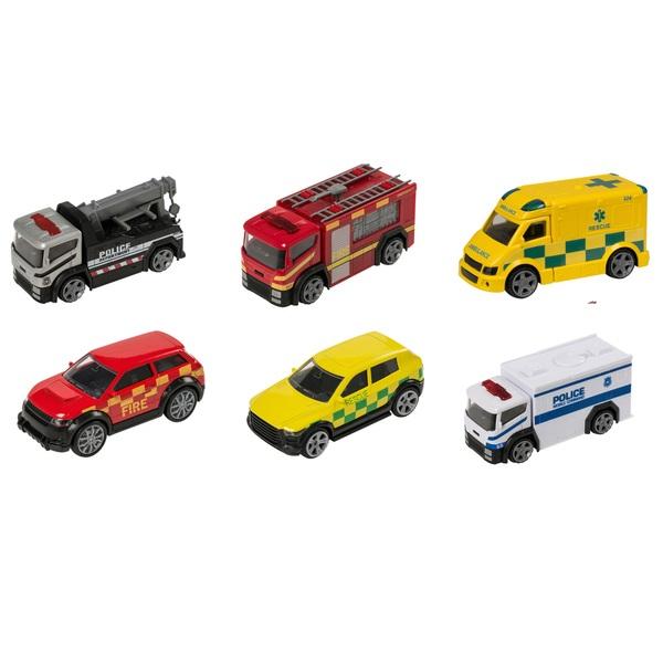 Revz Emergency 6 Pack of Die Cast Vehicles