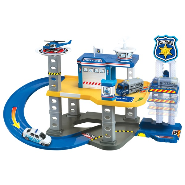 RevZ Police Station Playset with 28 Pieces
